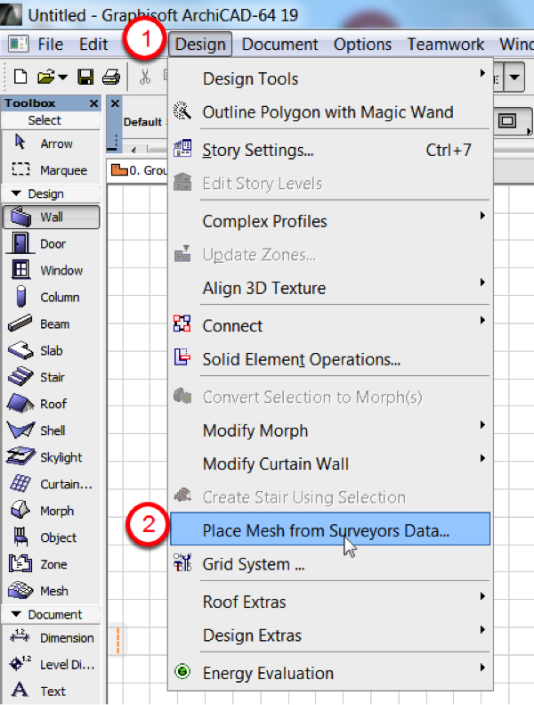 Creating Topography in ARCHICAD from AutoCAD Survey Data | ASIABIM