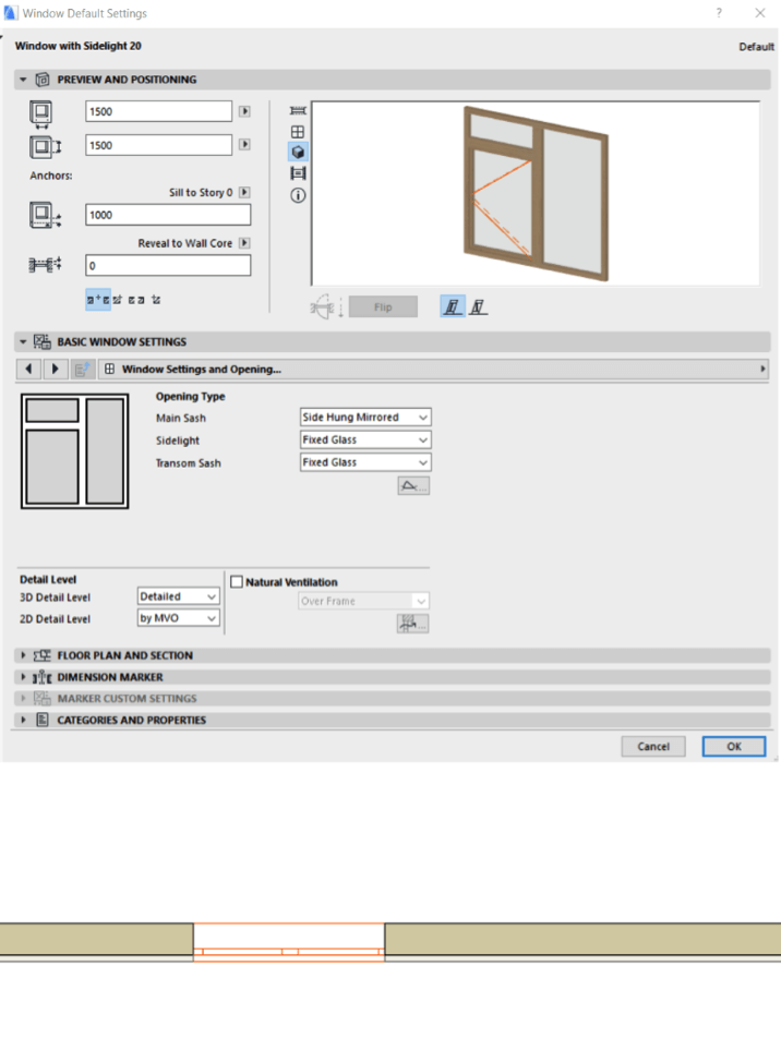 Custom 2d details for archicad windows asiabim for Window object