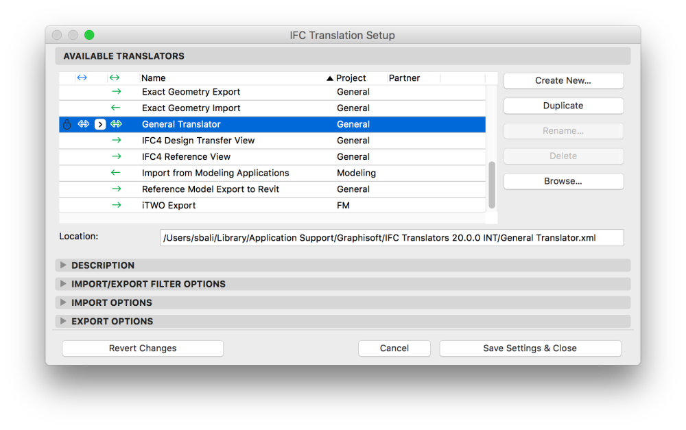 IFC Export of Migrated/Linked Projects from ARCHICAD 21